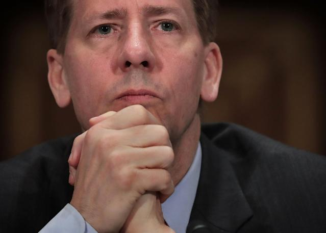 Director of the Consumer Financial Protection Bureau Richard Cordray testifies during a hearing before the Senate on April 7, 2016. Photo by Alex Wong/Getty Images