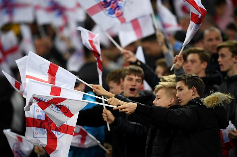 England fans have been urged not to fly St George's flags at the World Cup this year: Getty Images