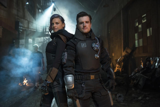 Eliza Coupe as Tiger and Josh Hutcherson as Josh in <em>Future Man </em>(Photo: Brandon Hickman/Hulu)