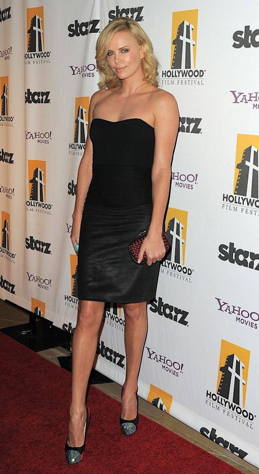 "<a href=""http://movies.yahoo.com/movie/contributor/1800019484"">Charlize Theron</a> at the 13th Annual Hollywood Awards Gala held at the Beverly Hilton Hotel - 10/26/2009"