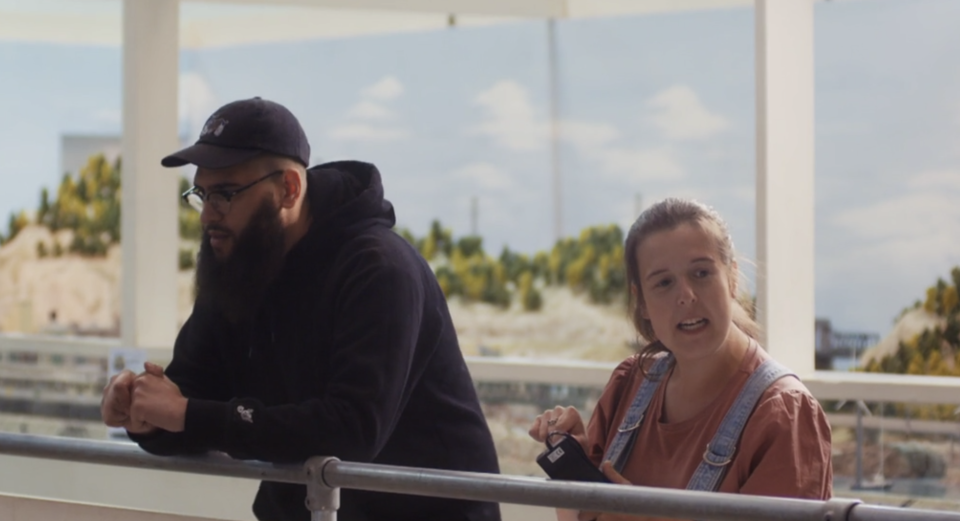 Rosie Jones is joined by Jamali Maddix. (Channel 4)