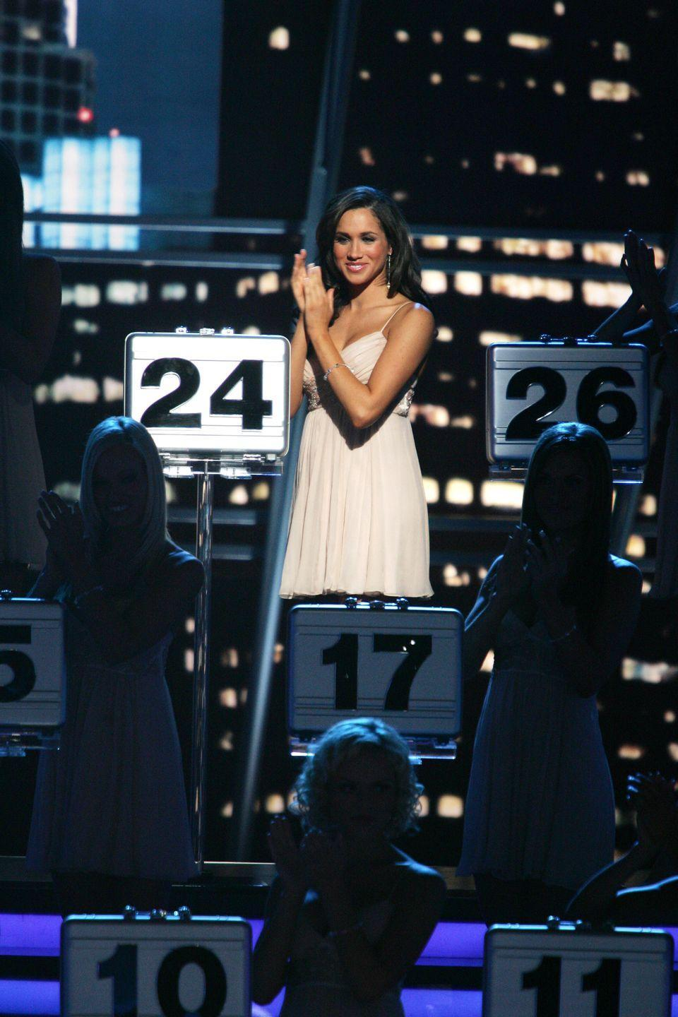 <p>Meghan Markle worked as one of the briefcase models on the popular American game show <em>Deal or No Deal</em>.</p>