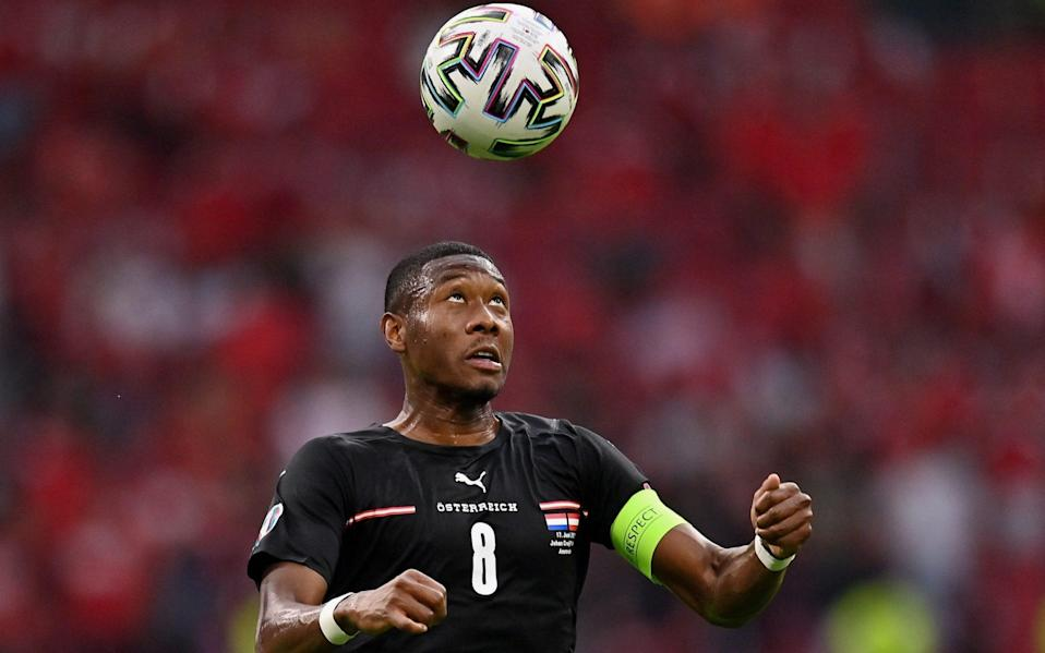 Alaba has had a difficult night so far - GETTY IMAGES