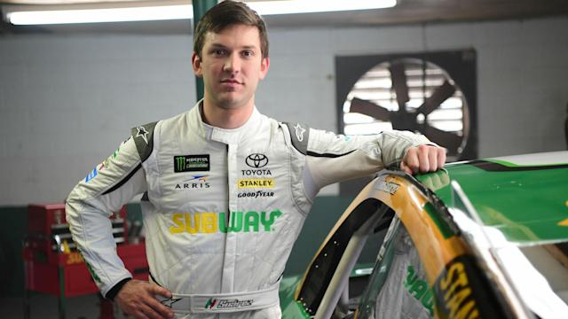 Subway ended its relationship with Joe Gibbs Racing due to Suarez appearing on-air with a competitors' product.