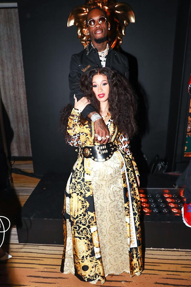 <p>Off Set, Cardi B<br> Versace Afterparty, Met Gala, New York, USA – 07 May 2018<br> (Photo: Shutterstock) </p>