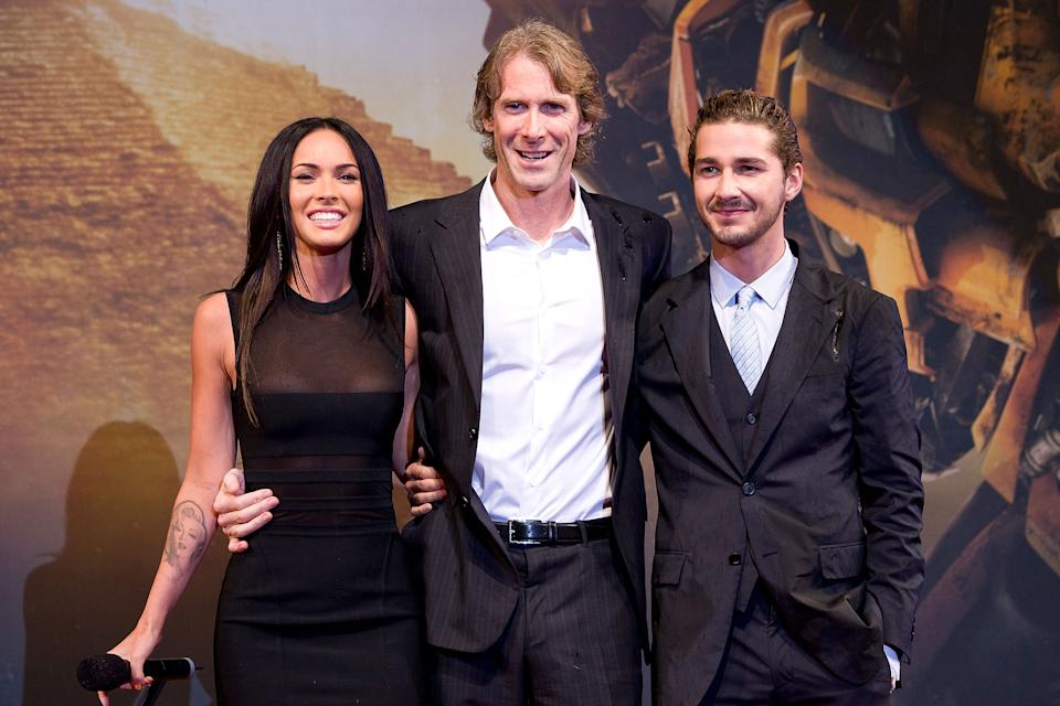 Fox, Bay and Shia LaBeouf in 2009. Image via Getty Images.