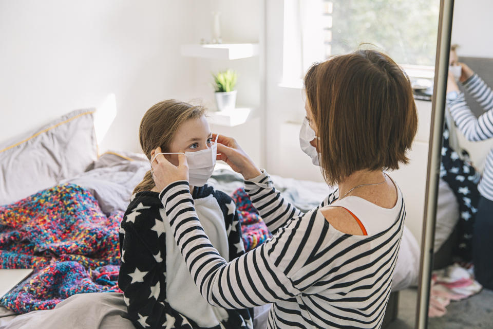 How to encourage children to wear face masks. (Getty Images)