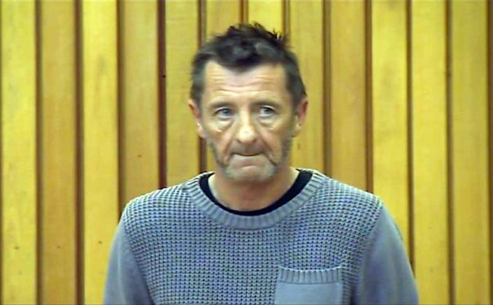 A television frame grab shows AC/DC drummer Phil Rudd, attending a hearing in court in Tauranga, New Zealand on November 6, 2014 (AFP Photo/)