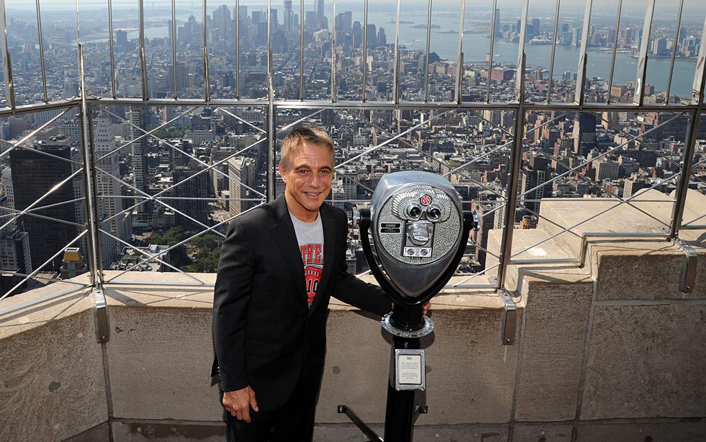 "<p class=""MsoNormal""><span>Tony Danza headed high above Manhattan, to the top of the Empire State Building on Wednesday. The New York native made the 102-story trip to promote his new book, <em style="""">I'd Like to Apologize to Every Teacher I've Ever Had, </em>which chronicles his year-long gig teaching high school English in inner-city Philadelphia. (9/14/2012)</span></p>"