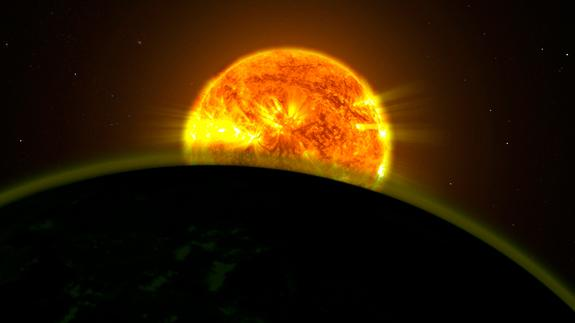 NASA scientists found faint signatures of water in the atmospheres of five distant planets. All five planets appear to be hazy.