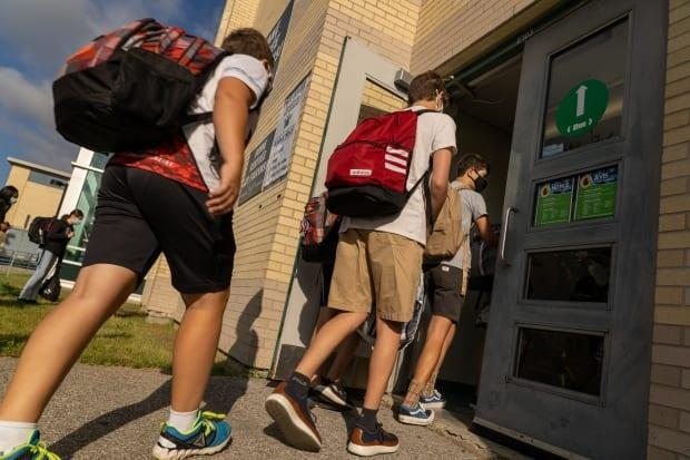Students across Ontario are heading back to physical classrooms this week - but concerns are lingering about whether safety preparations are up to the task of keeping infections at a minimum.  (CBC/Radio-Canada - image credit)