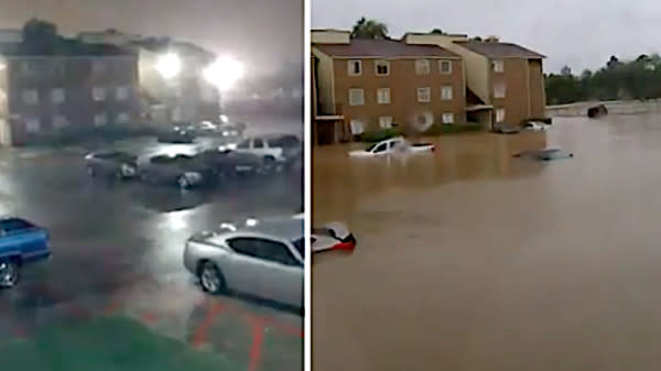 Dramatic Time-Lapse Shows How Quickly Floodwaters Rose In Houston