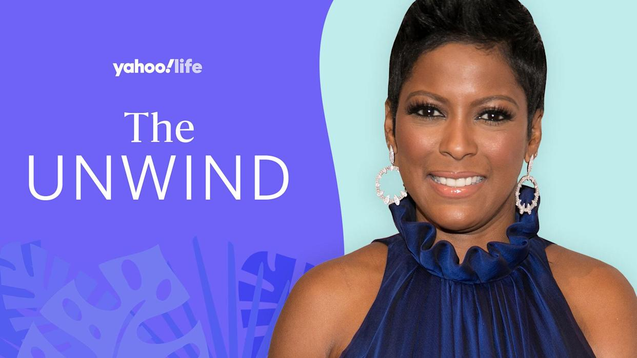 Tamron Hall talks stress, self-care and practicing transcendental meditation. (Photo: Getty Images; designed by Quinn Lemmers)