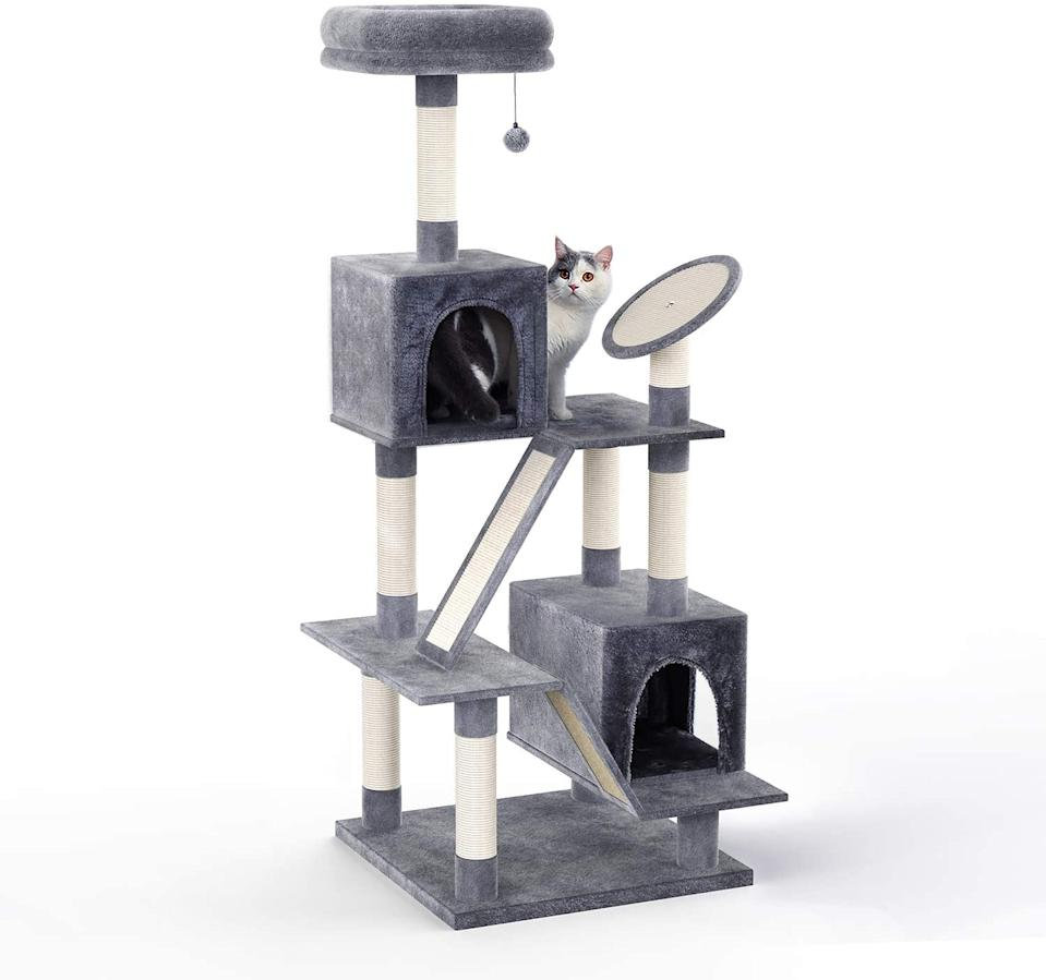 PAWZ Road Multi-Level Cat Tree. Image via Amazon.