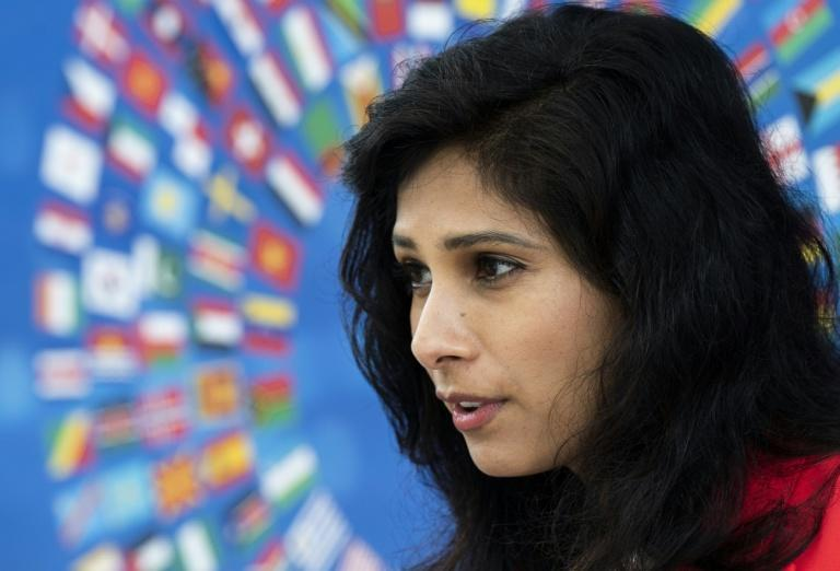 IMF chief economist Gita Gopinath said the fund supports a global minimum tax