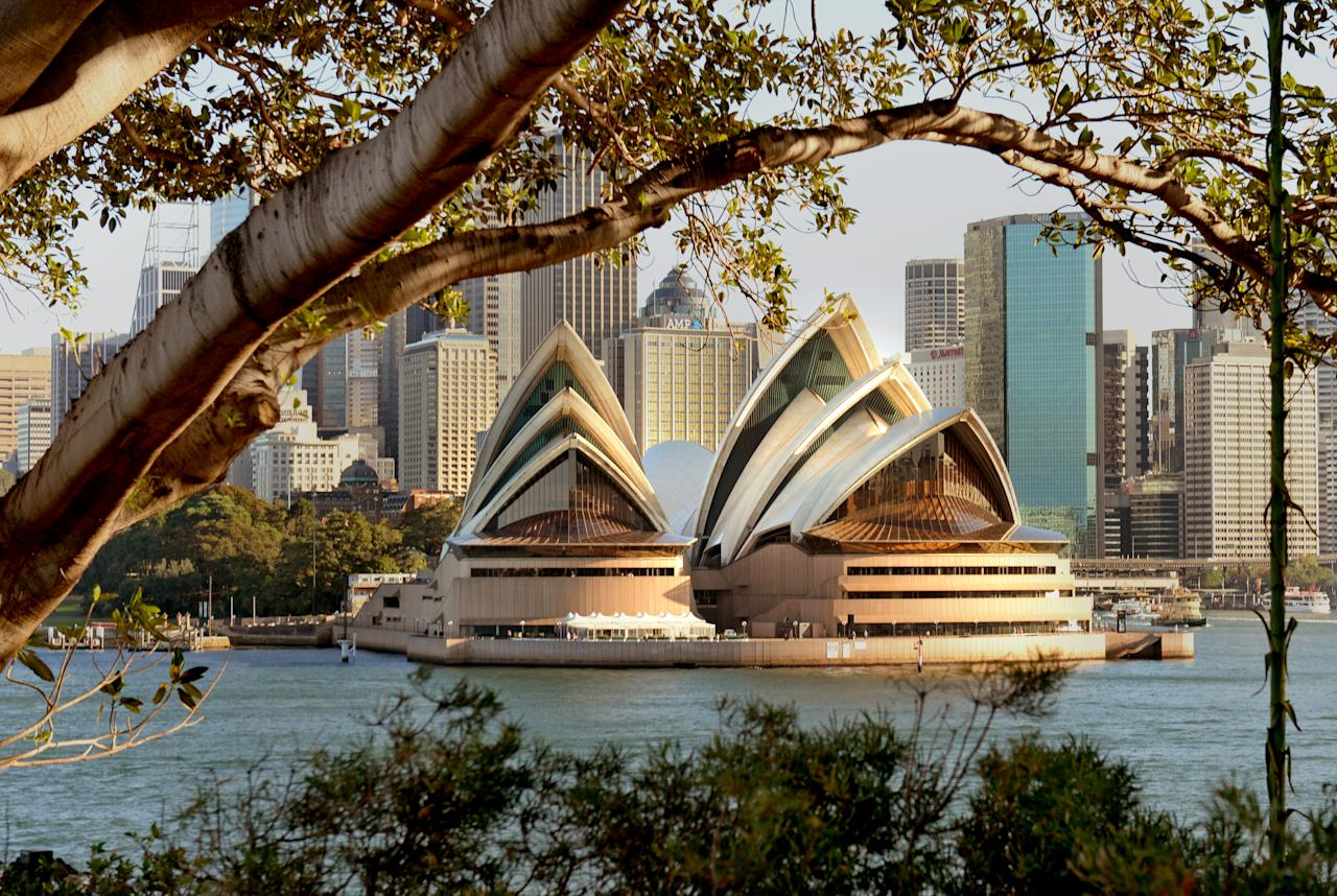 <p>The gorgeous waterside location brings views of the Opera House and Sydney Harbour Bridge. Photo: Getty </p>