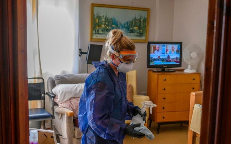 Cleaning measures are carried out at a care home - Paul Grover