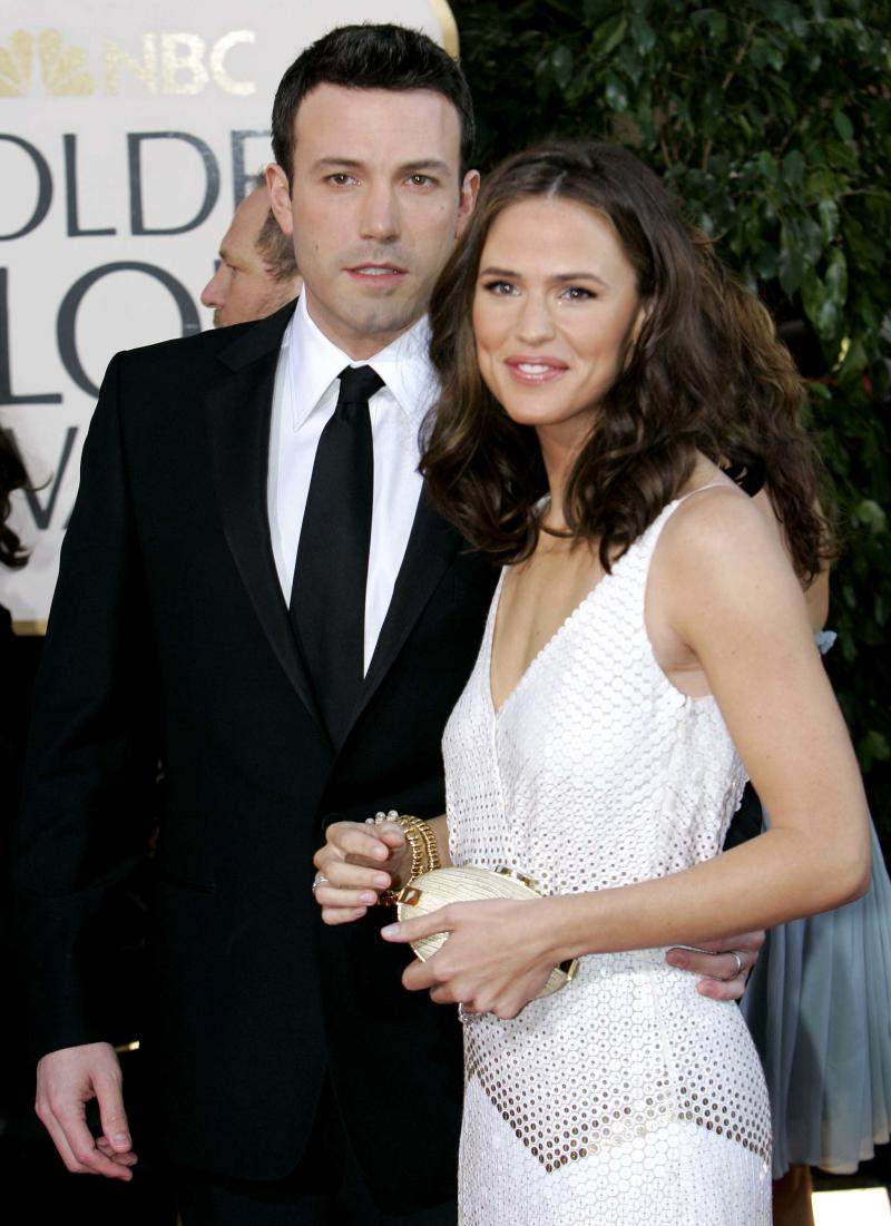 FILE - In this Jan. 15, 2007 file photo, Ben Affleck, left, and Jennifer Garner arrive for the 64th Annual Golden Globe Awards in Beverly Hills, Calif. Affleck has confirmed the Feb. 27, 2012 birth of his son Samuel Garner Affleck with wife actress Jennifer Garner on his official Facebook page. This is the couple's third child.   (AP Photo/Mark J. Terrill, File)