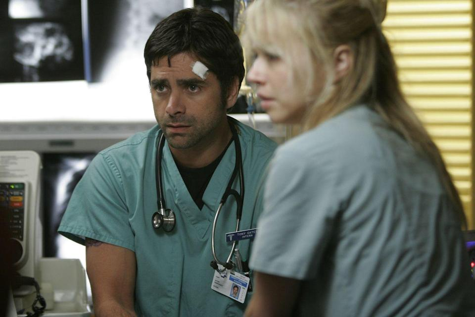 <p>During a bit of a career slump in 2005, John Stamos joined the cast of <em>ER </em>to play Dr. Tony Gates. The former <em>Full House </em>star was a regular character on the show until leaving in 2009. </p>