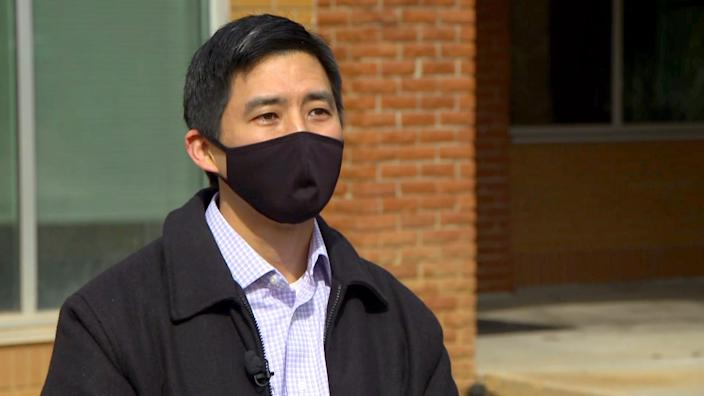 Dr. Jonathan Poon, who works at the Elberton Medical Clinic in Georgia. (NBC News)
