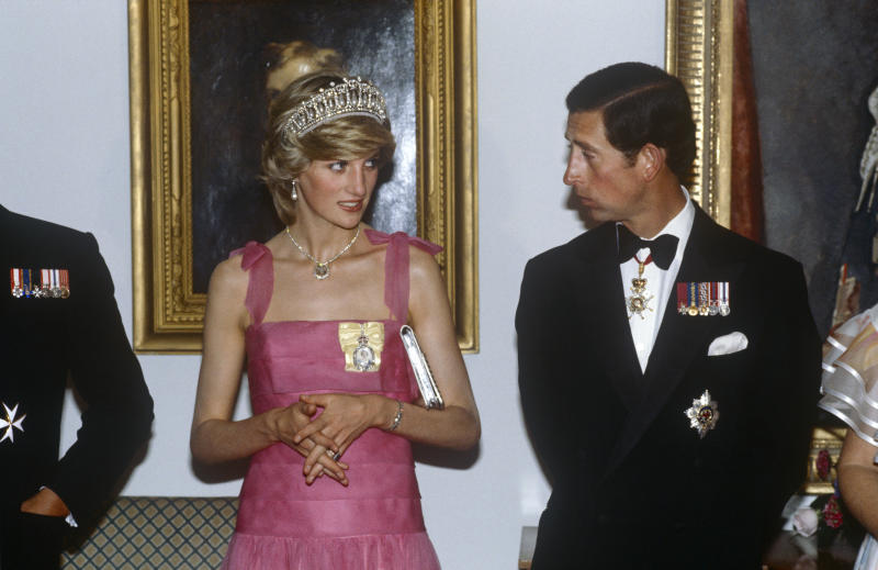 OTTAWA - JUNE 1983: Prince Charles and Princess Diana at a reception in Ottawa, Canada in June 1983 on their Royal Tour. (Photo by David Levenson/Getty Images)