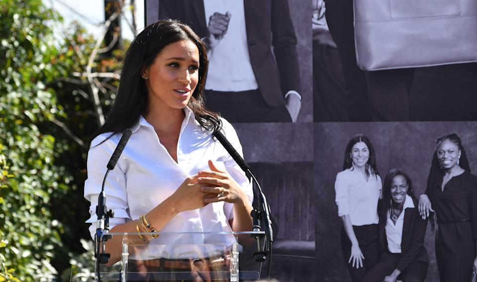 Meghan is not usually the one doing the interviews. (Getty Images)