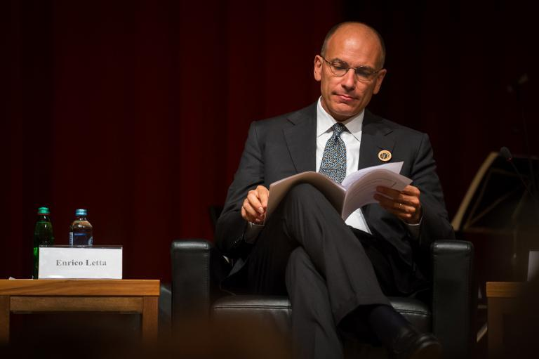 Italian Prime Minister Enrico Letta attends the opening meeting of Bled Strategic Forum in Bled, on September 2, 2013