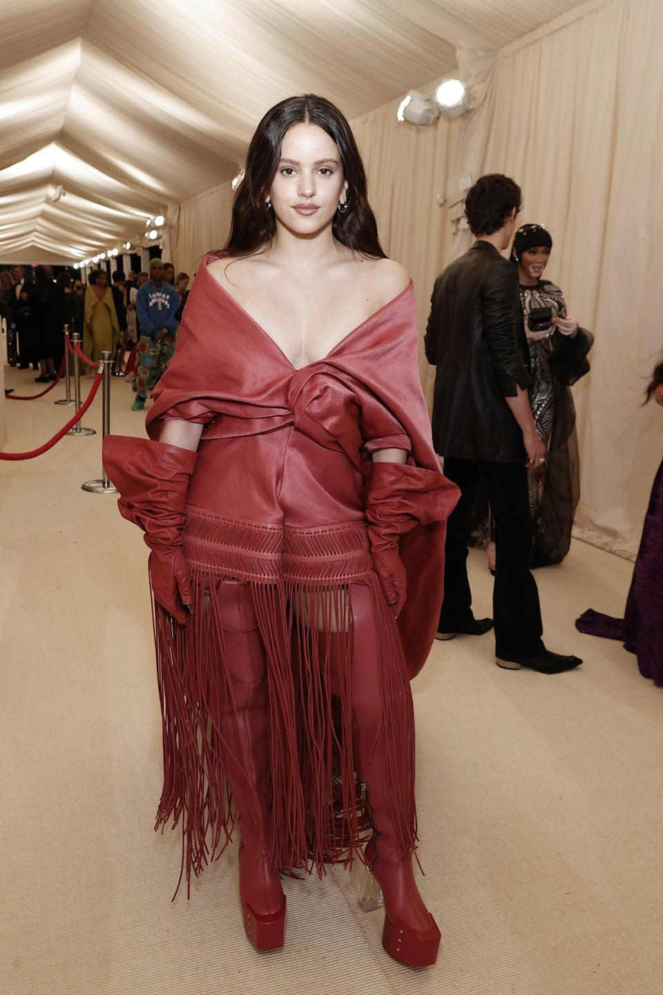 <p>Wearing a Rick Owens outfit with Homer jewels.</p>