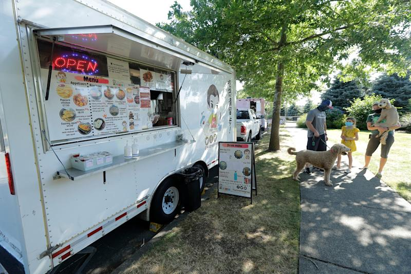 YS Street Food food truck on Aug. 10, 2020, near the suburb of Lynnwood, Wash., north of Seattle.