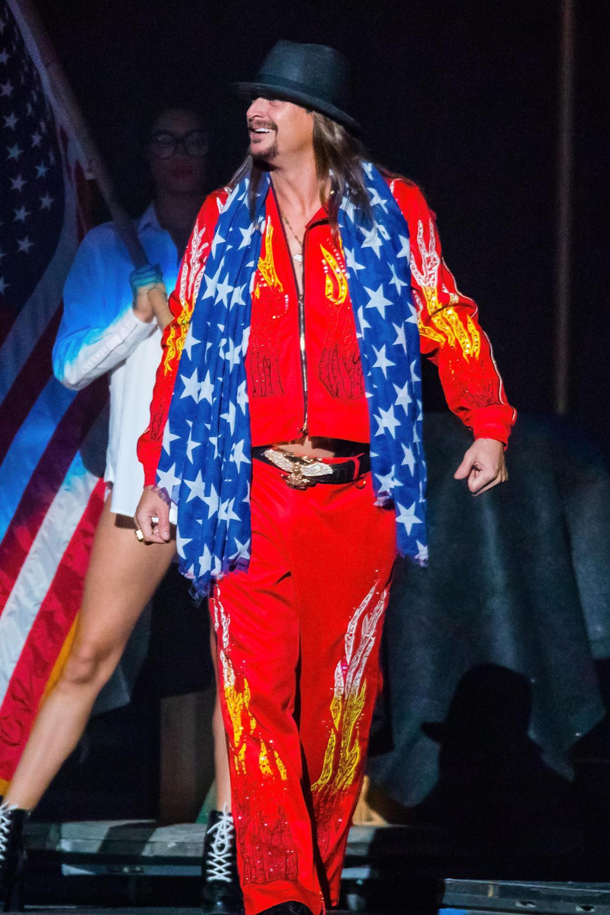 DETROIT, MI - SEPTEMBER 20:  Kid Rock performs at Little Caesars Arena on September 20, 2017 in Detroit, Michigan.  (Photo by Scott Legato/Getty Images)