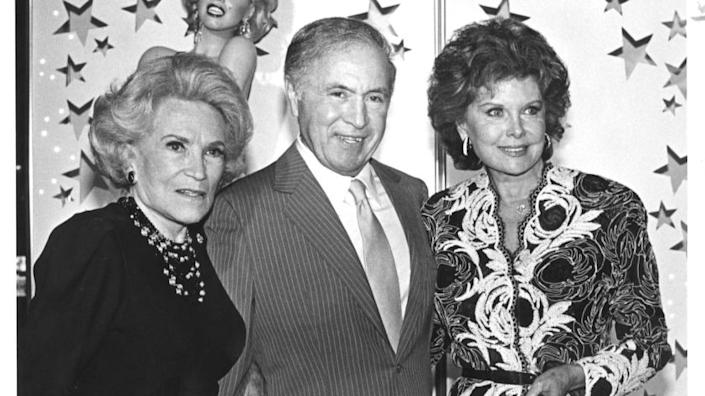 (Left to Right) Dorothy Kirsten French, Ted Mann, and rhonda Flemming Mann at the John Douglas French foundation benefit for Alzheimer's disease held at Bullock's wilshire in Los Angeles.