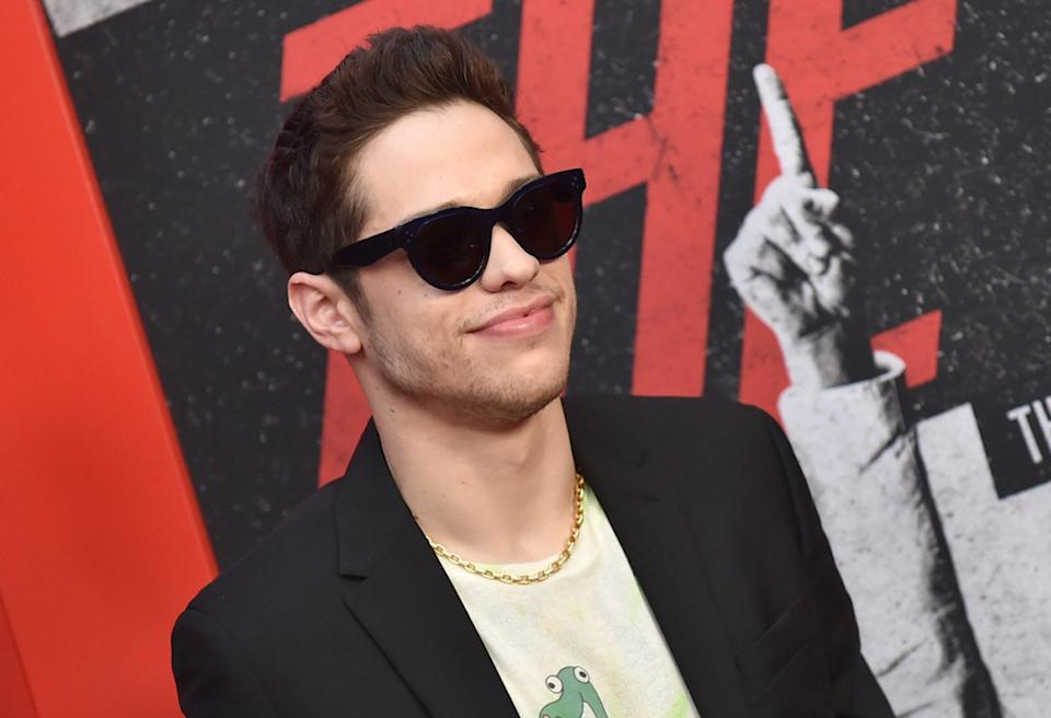 Pete Davidson arrives for the Netflix 'The Dirt' Premiere on March 18, 2019 in Hollywood, CA