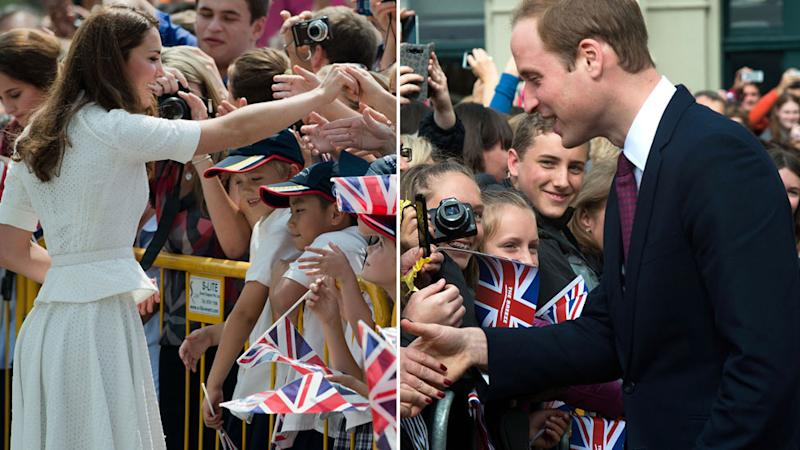 Prince William and Kate also tend to shake hands with those from the public too. Source GettyMore
