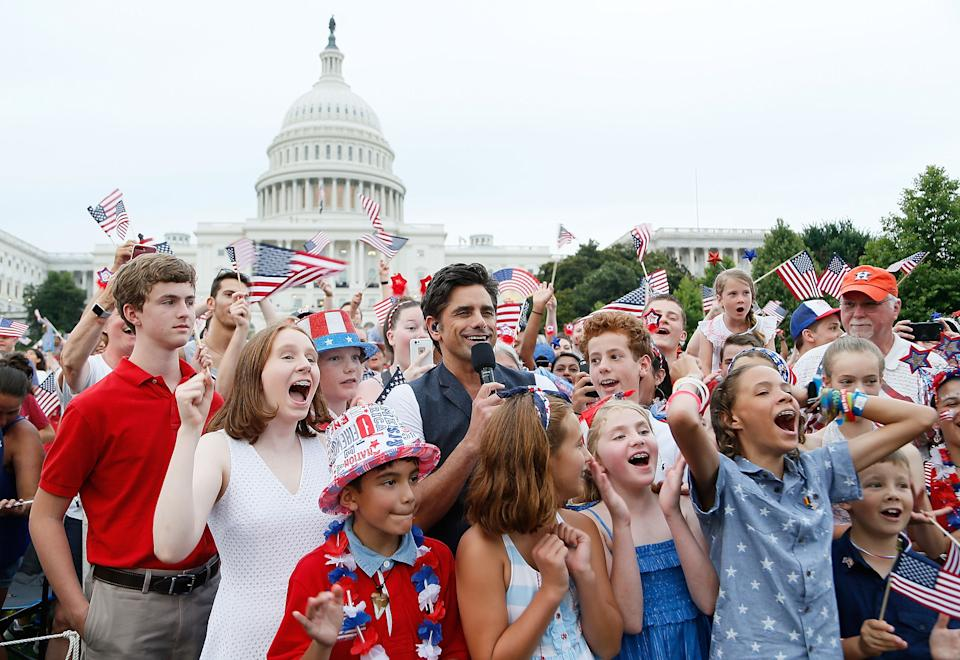 John Stamos hosting the 2018 A Capitol Fourth Concert at U.S. Capitol, West Lawn in Washington, DC.  (Photo by Paul Morigi/Getty Images/On behalf of Capitol Concerts)