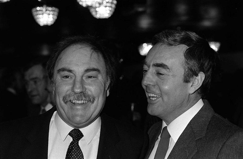 Greaves and Ian St John, stars of the ITV show 'Saint and Greavsie'. St John died in March of this year (PA)