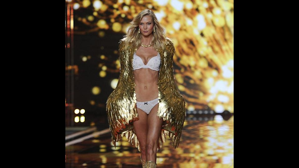 "<p>Karlie Kloss returned to the Victoria's Secret runway in 2017 following a three-year break. The supermodel previously walked in the show from 2011 to 2014. Kloss ranked No. 7 on Forbes' 2017 list of world's highest-paid models, with estimated earnings of $9 million for the year. She has modeling contracts with Swarovski, Adidas and Express, and has covered Vogue's U.S. and international editions a total of 36 times. Kloss — when not busy palling around as part of Taylor Swift's ""girl squad"" — lives to give back: She is also the founder of Kode with Klossy, a non-profit that teaches women and girls about computer programming.</p> <p><em><strong>See Who Gives Back: <a href=""https://www.gobankingrates.com/net-worth/celebrities-run-foundations-charities/?utm_campaign=489384&utm_source=yahoo.com&utm_content=23"" rel=""nofollow noopener"" target=""_blank"" data-ylk=""slk:21 Celebrities Who Run Foundations or Charities"" class=""link rapid-noclick-resp"">21 Celebrities Who Run Foundations or Charities </a></strong></em></p>"