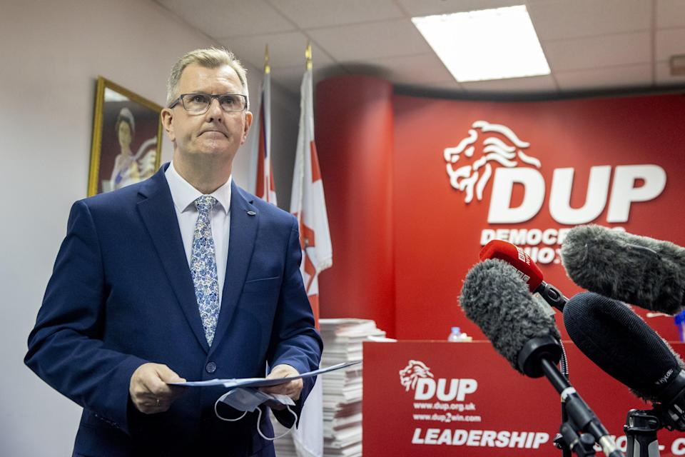Westminster leader Sir Jeffrey Donaldson also ran for the leadership of the partyPA Wire