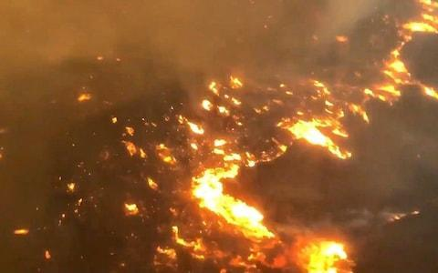 <span>An aerial view of the fire in Malibu</span> <span>Credit: Reuters </span>