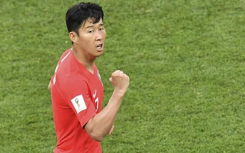 Son Heung-min -Mexico edge towards last 16 at World Cup after Carlos Vela and Javier Hernandez all but end South Korea hopes - Credit: Getty Images