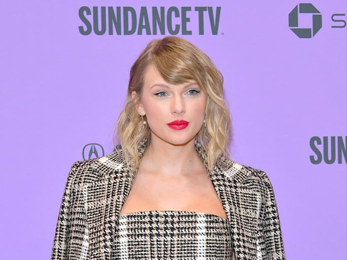 Taylor Swift attends the 2020 Sundance Film Festival on 23 January 2020 in Park City, UtahNeilson Barnard/Getty Images