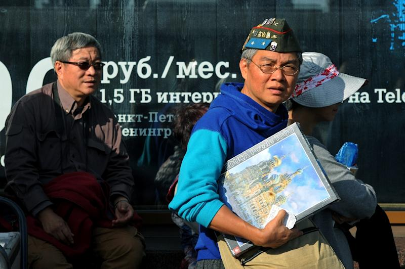 The Russian city of Saint Petersburg hosted nearly 26,000 Chinese tourists in 2014 (AFP Photo/OLGA MALTSEVA)