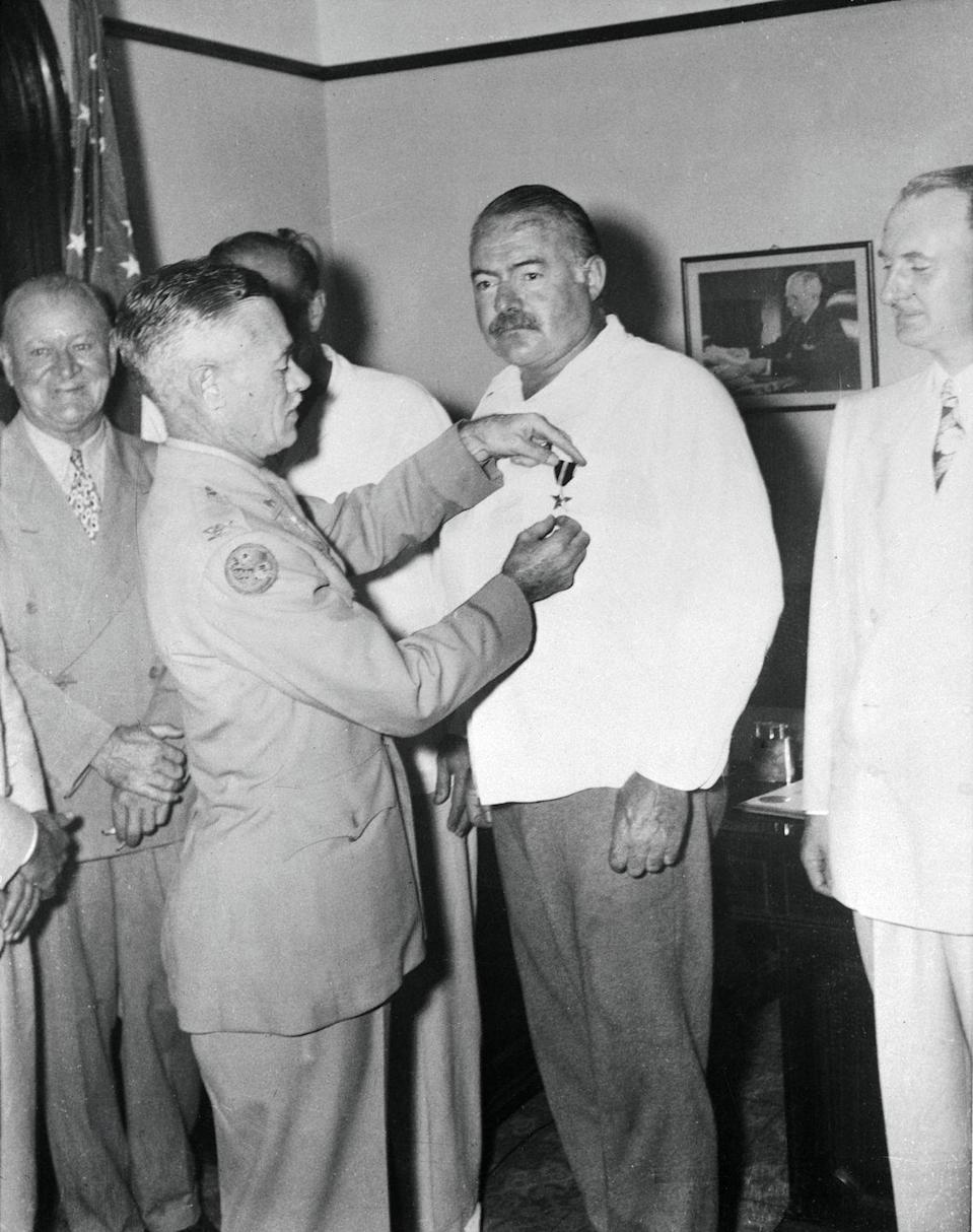 <p>In 1947, Hemingway received another honor from the United States Armed Forces. The novelist was awarded the Bronze Medal for his work as a war correspondent.</p>