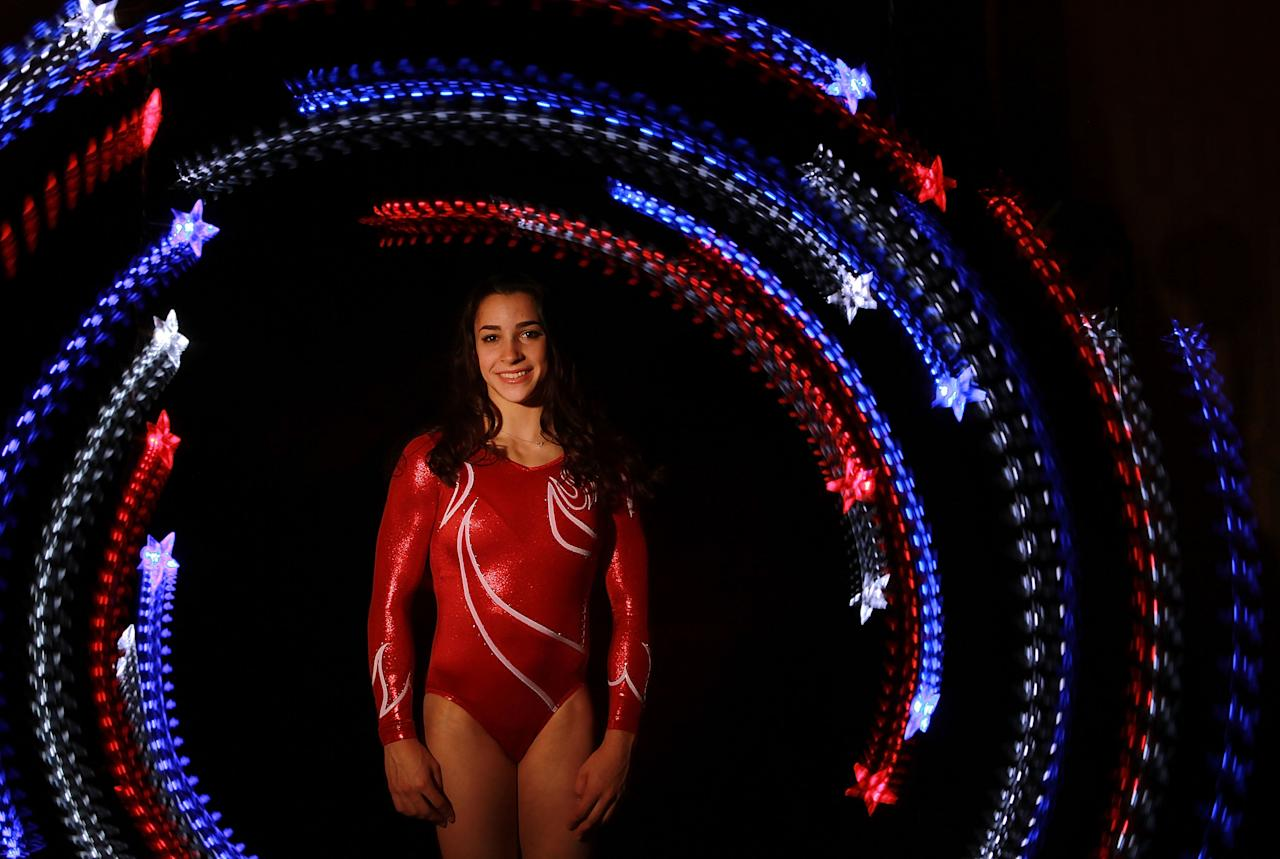 DALLAS, TX - MAY 14:  Gymnast, Aly Raisman, poses for a portrait during the 2012 Team USA Media Summit on May 14, 2012 in Dallas, Texas.  (Photo by Ronald Martinez/Getty Images)