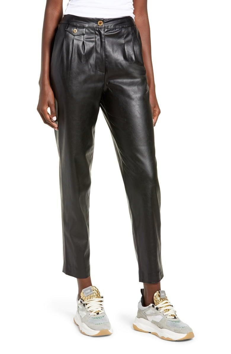 <p><span>BLANKNYC Faux Leather Pleated Trousers</span> ($50, originally $98)</p>