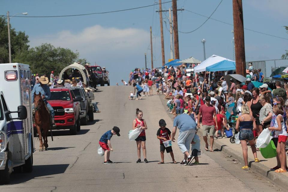 The Independence Day parade in Belle Fourche, South Dakota.