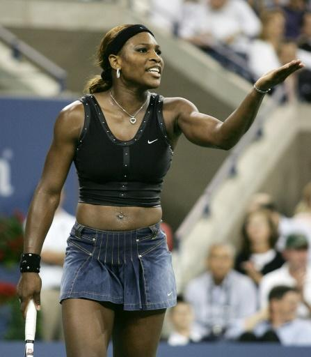 Serena in denim at the 2004 US Open