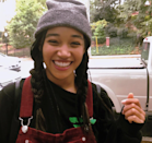 As Amandla Stenberg demonstrates, they're perfect with a beanie.