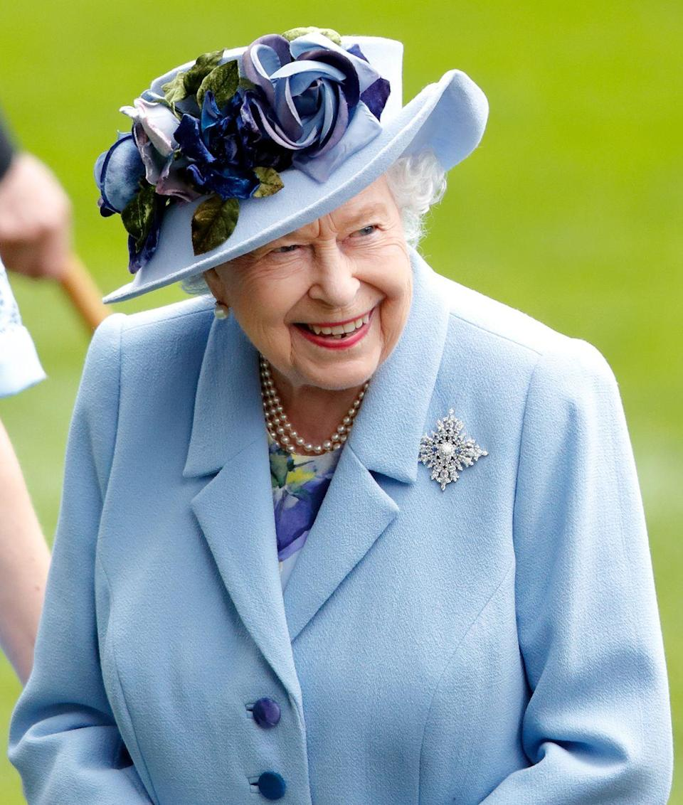 <p>On the occasion of her sapphire jubilee in 2017, celebrating her 65th year on the British throne, Queen Elizabeth received this Sapphire Jubilee Snowflake Brooch from Canada. The jewel, which she wore to Ascot here in 2019, is set with rare Canadian sapphires discovered in 2002 on Baffin Island. </p>