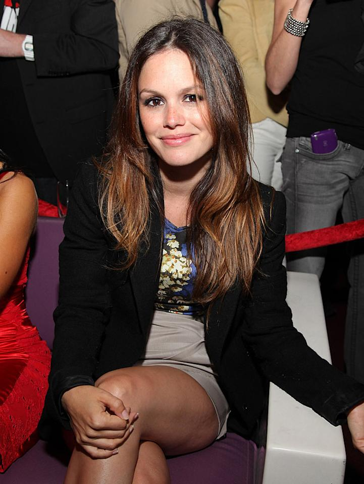 """Is Hayden Christensen history? Rachel Bilson flashed a ringless finger at the Take No Prisoners event in LA Wednesday night, and when asked by <i>Us Weekly</i> how her wedding plans were going, the actress replied, """"No, no plans."""" Angela Weiss/<a href=""""http://www.gettyimages.com/"""" target=""""new"""">GettyImages.com</a> - June 16, 2010"""