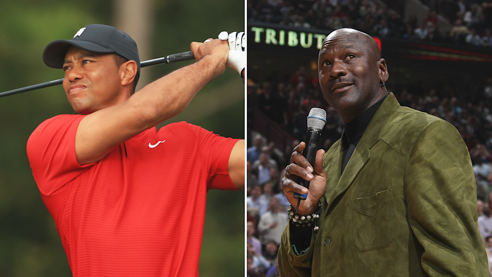 Tiger Woods and Michael Jordan (Photo: Getty)